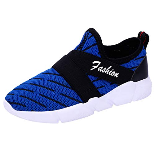 Nebwe Shoes Women's Fashion Casual Breathable Slip On Sports Running Sneakers Walking(Blue,38)