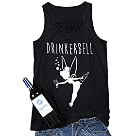 MNLYBABY Women Casual Letters Print Tank Tops Sleeveless Funny Graphic Tees T-Shirt