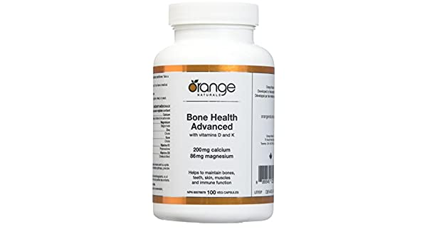 Amazon.com: Orange Naturals Bone Health Advanced with D3/K1 Vegetable Capsules, 100 Count: Health & Personal Care
