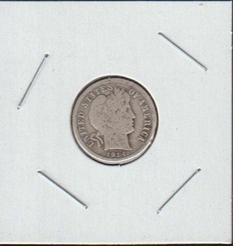 1914 D Barber or Liberty Head (1892-1916) Dime Fine