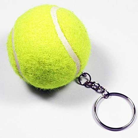Driverder Portachiavi con anello attaccato a una mini pallina da tennis