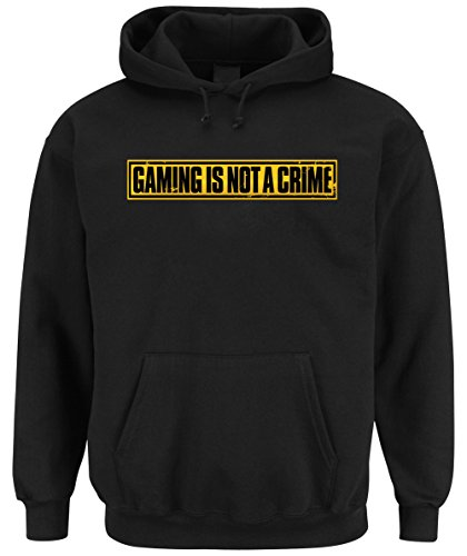 Gaming is not a Crime Hooded-Sweater Black Certified Freak
