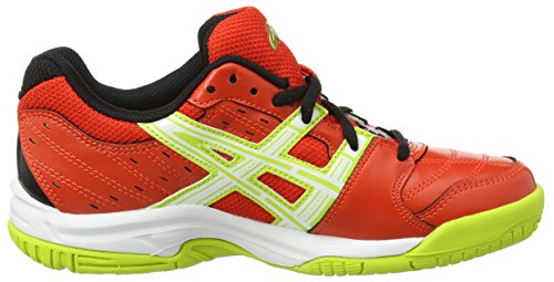 Asics Gel-squad Gs - Zapatillas de deporte interior Unisex adulto Rojo (Cherry Tomato/White/Black 2101)