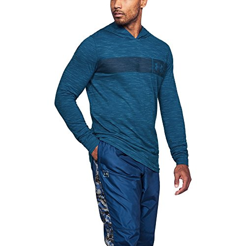 Under Armour Men's Sportstyle Core Hoodie, Moroccan Blue (487)/Academy, X-Large