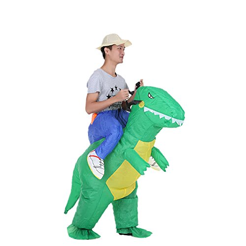 Raitron Cute Kids Inflatable Dinosaur Costume Suit Air Fan Operated Walking Fancy Dress Halloween Party Outfit T-Rex Inflatable Animal Costume -