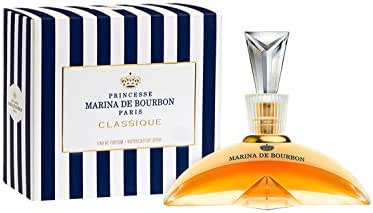 Classique by Princesse Marina de Bourbon | Eau de Parfum Spray | Fragrance for Women | Floral and Fruity Scent with Notes of Exotic Fruits and Vanilla | 100 mL / 3.4 fl oz