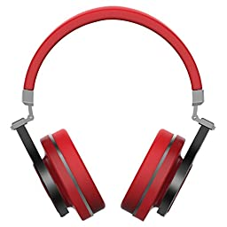 Bluedio T3 (Turbine 3rd) Extra Bass Wireless Bluetooth 4.1 Stereo Headphones(Red)