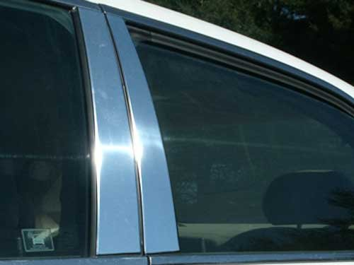 Pillars Honda Accord - QAA FITS ACCORD 2003-2007 HONDA (4 Pc: Stainless Steel Pillar Post Trim Kit, 4-door) PP23281