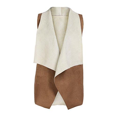 Clearance!!! MOSE Fashion Women Winter Fox Fur Gilet Jacket Vest Top (Khaki, (Fur Winter Vest)