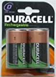 2 x Original Duracell D LR20 MN1300 Ni-Mh (2200 mAh) Rechargeable Batteries in Sealed Pack