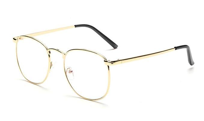 bb1cda8ffa48d Flydo Gafas de lentes transparentes gafas de lectura decoración para  hombres mujeres de moda gafas retro Lente Transparente Visión Clara  Amazon. es  Ropa y ...