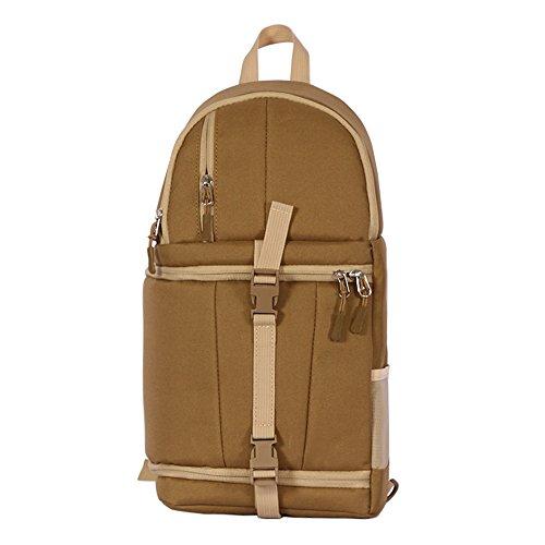 Sling Bag Gym Satchel Hombro Slr Afcity Pack De Bolsa Marrón Fanny color Marrón Backpack Camera Desequilibrada 900d f4AdCqw