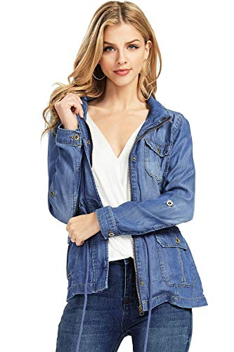 Used, Black Label by C'est Toi Women's Chambray Cargo Casual for sale  Delivered anywhere in USA