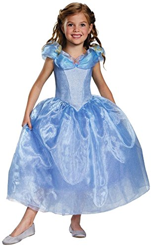 Disguise Cinderella Movie Deluxe Costume, Medium (7-8)