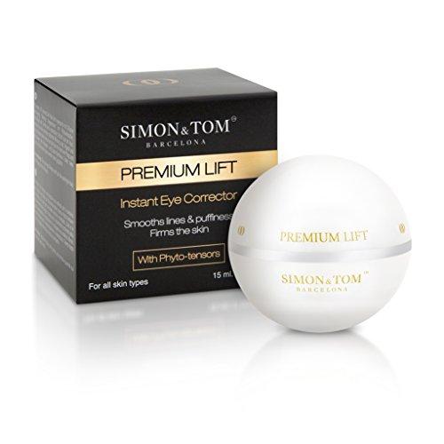 Simon & Tom Premium Lift - Anti-Falten Augengel mit sofortigem Lifting Effekt. Sichtbare Straffung. Enthält Arganöl und Kollagen. Ohne Parabene. 15ml - NEUE FORMEL