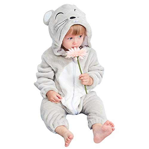 COOKY.D Newborn Infant Hooded Flannel Romper Autumn Winter Onesies Pajamas...