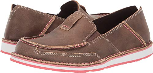 Ariat Women's Bomber Cruiser Shoes Moc Toe Brown 7 M