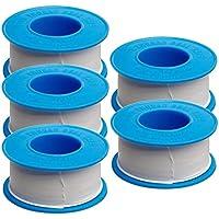 Thread Tape, 5 Rolls White PTFE Teflon Tape for Plumber, Faucet, Shower Head, Water Pipe Sealant Tape of Leak Water, 20…