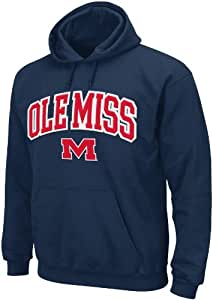 NCAA Mississippi Old Miss Rebels Men's Huddle Up 1 Hooded Sweatshirt, Small, Navy