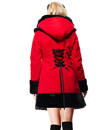 Hell Femme Bunny Rouge Hell Manteau Bunny r8FaOqPwr