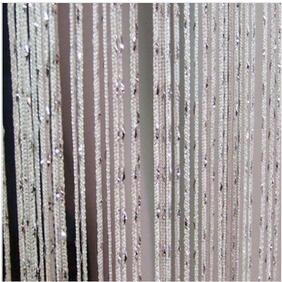 Panel Fringe (ave split Decorative Door String Curtain Wall Panel Fringe Window Panel Drapes Room Divider Blind Divider Tassel Screen Home 100cm200cm (white1))