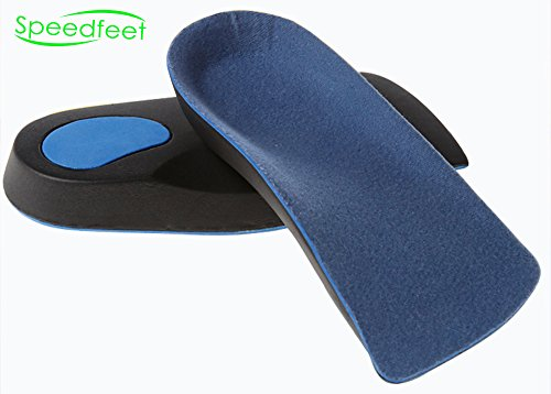 - Speedfeet 3/4 Orthotic with Metatarsal Pad Cushion Arch Support,EVA insoles,5-Size for Men and Women(US W(8.5-10.5))/M(6.5-7.5)/EU 39-40.5)