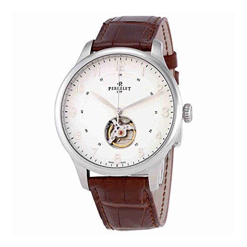 Perrelet First Class Open Heart Automatic White Dial Mens Watch A1087/1