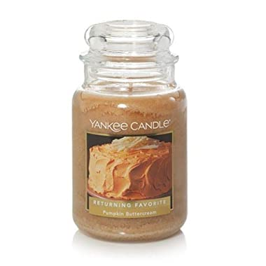 Yankee Candles Pumpkin Buttercream Large Jar Candle,Fresh Scent