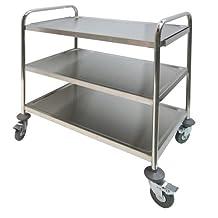 """GSW Stainless Steel Economic Duty Food Cart, 20"""" x 40"""" x 34"""""""