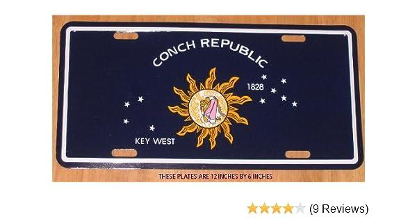 I Love Key West Beach Ocean Palm Tree Metal License Plate Frame Tag Holder