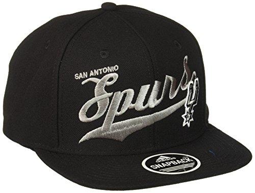 NBA San Antonio Spurs Women's Flashy Sequinced Wordmark Structured Adjustable Hat, Black, One Size - San Antonio Spurs Gear