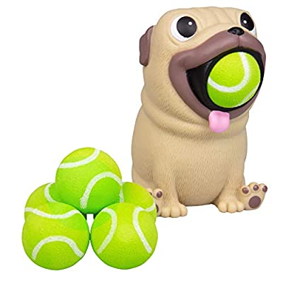 Hog Wild Pug Popper Toy - Shoot Foam Balls Up to 20 Feet - 6 Balls Included - Age 4+: Toys & Games