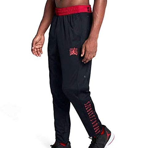 - Nike Men's Air Jordan 11 Retro Basketball Tear Away Pants Black Red Size XL