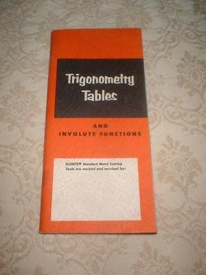 Itw Trigonometry Tables And Involute Functions  Illinite Division Of Ilinois Tool Works