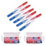 Interdental Slim Brush, Toothpick Tooth Flossing Head Oral Dental Hygiene Brush - 100 Count