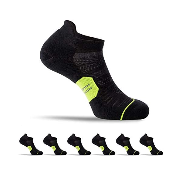 CelerSport 6 Pack Running Ankle Socks for Men and Women with Cushion, Low Cut Athletic...