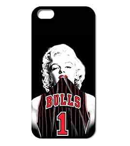 Season.C Marilyn Monroe and Bulls Style Clear Hard Back Case Cover for iPhone 6 Plus (5.5 inch) by runtopwell