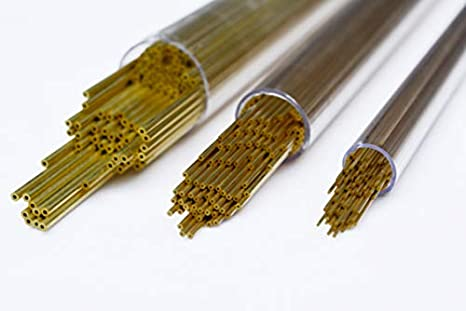 20pcs EDM Drilling Brass Electrode Tube OD 1mm 400mm