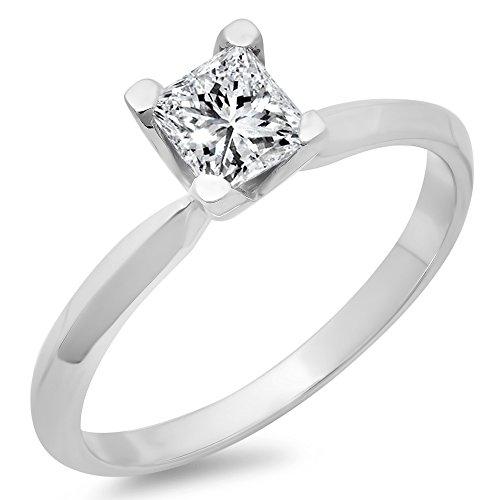 0.65 Ct Princess Diamond - 7