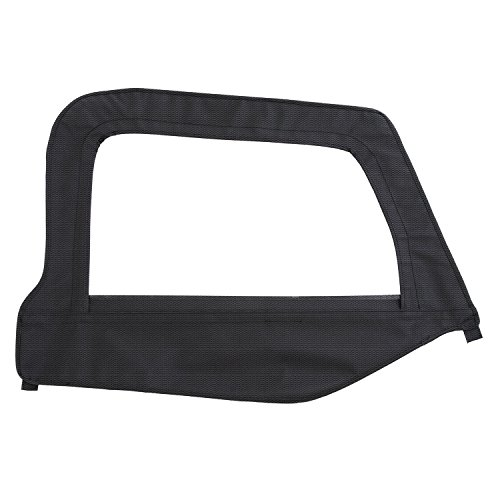 Smittybilt Door Skin (Smittybilt 79535 Black Diamond Passenger Side OEM Replacement Soft Top Door Skin with Frame)