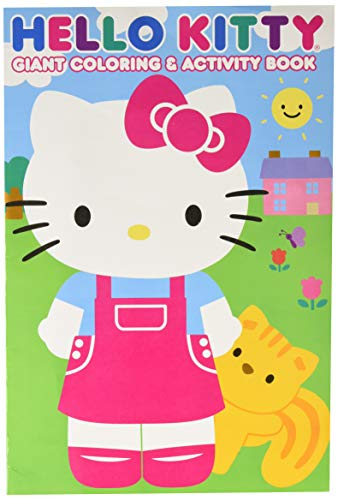 Hello Kitty 28027BW 11x16 Giant Coloring & Activity Book, Multicolor -