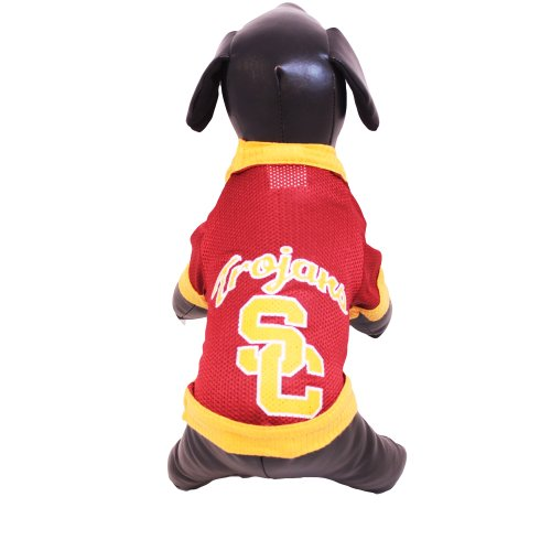 NCAA USC Trojans Athletic Mesh Dog Jersey (Team Color, X-Small)