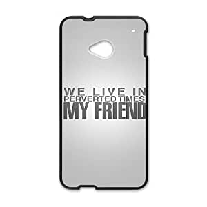 HTC One M7 Cell Phone Case Black iPhone we live in perverted times my friend Pkwmc