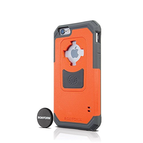 Rokform iPhone 6/6s Rugged Series Military Grade Magnetic Protective Phone Case with twist lock & universal magnetic car mount (Orange) 302254