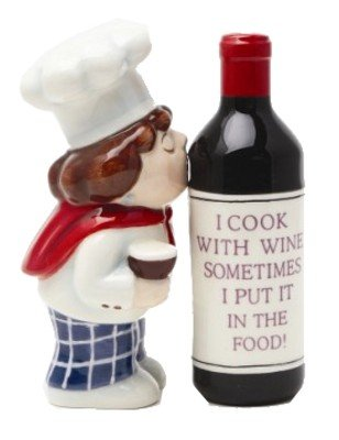 Wine Chef Waiter Magnetic Salt & Pepper Shakers