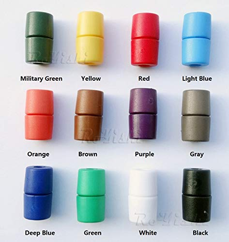 (110pairs Colorful Plastic Lanyard Safety Breakaway Pop Barrel Connectors for Paracord)