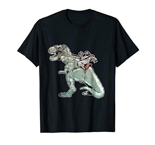 Jesus Riding A T-Rex Dinosaur Funny TShirt Realistic]()