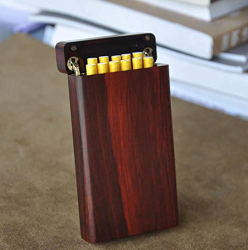Cigarette Case Hand Made Rose Wood Natural logs Birthday Present Men and Women Cigarette Case Accommodates 11 Cigarettes (with Gift Box) by CSCR (Image #4)