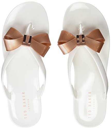 Gold Suzie White Sandal Baker Open Womens Toe white rose Ted AEz1wq
