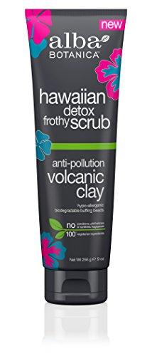 Alba Botanica Anti-Pollution Volcanic Clay Hawaiian Detox Frothy Scrub, 9 oz
